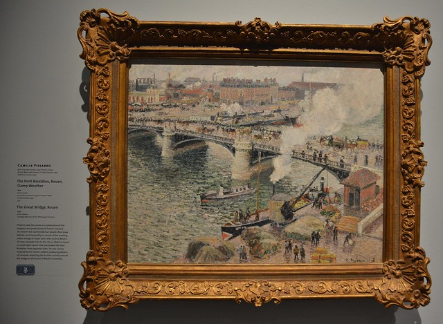 Pont Boïeldieu in Rouen, Rainy Weather, Rouen, by Camille Pissarro, Impressionism in the Age of Industry, Art Gallery of Ontario, Toronto, ON
