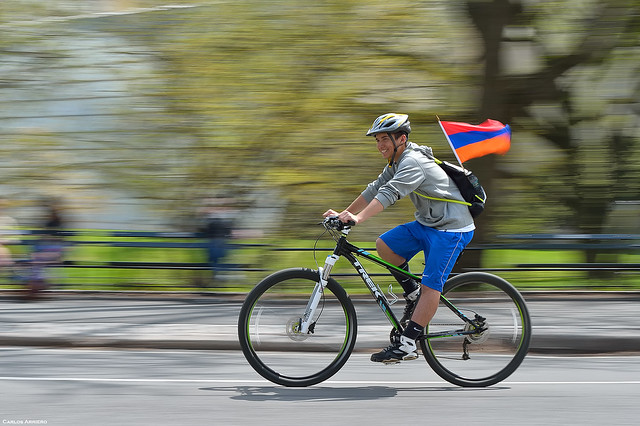 Ciclista en Central Park
