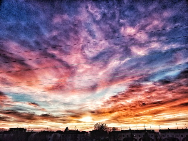 Sunset from my town Parma Italy