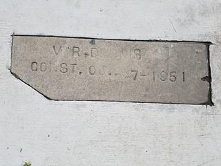 Sidewalk Marker - V. R. Dennis July 1851