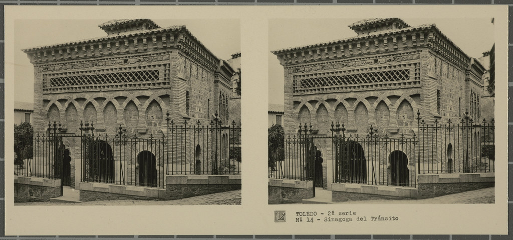 Mezquita del Cristo de la Luz. Colección de fotografía estereoscópica Rellev © Ajuntament de Girona / Col·lecció Museu del Cinema - Tomàs Mallol