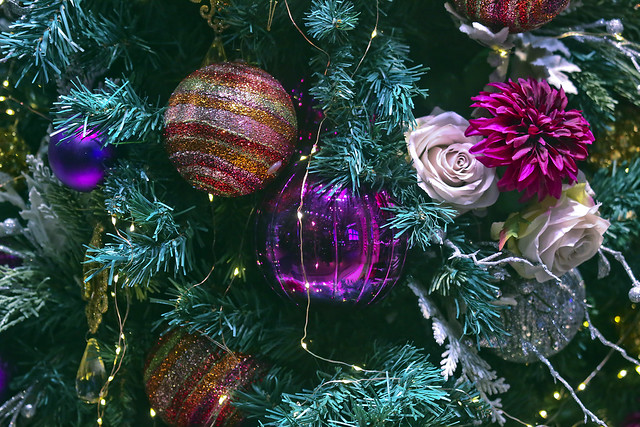 Details of Christmas tree
