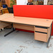 Straight desk with drawers E185