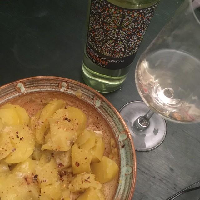 Kartoffeln und Scheurebe