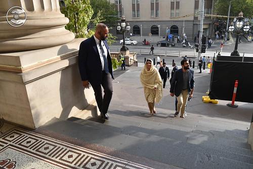 Arrival at Parliament of Victoria