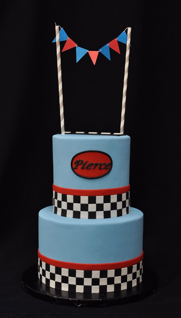 Outstanding Racing Themed Birthday Cake 5 And 7 Cakes Jenny Wenny Flickr Funny Birthday Cards Online Unhofree Goldxyz