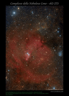 Complesso della Nebulosa Cono - sh2-273   by AstroBetta