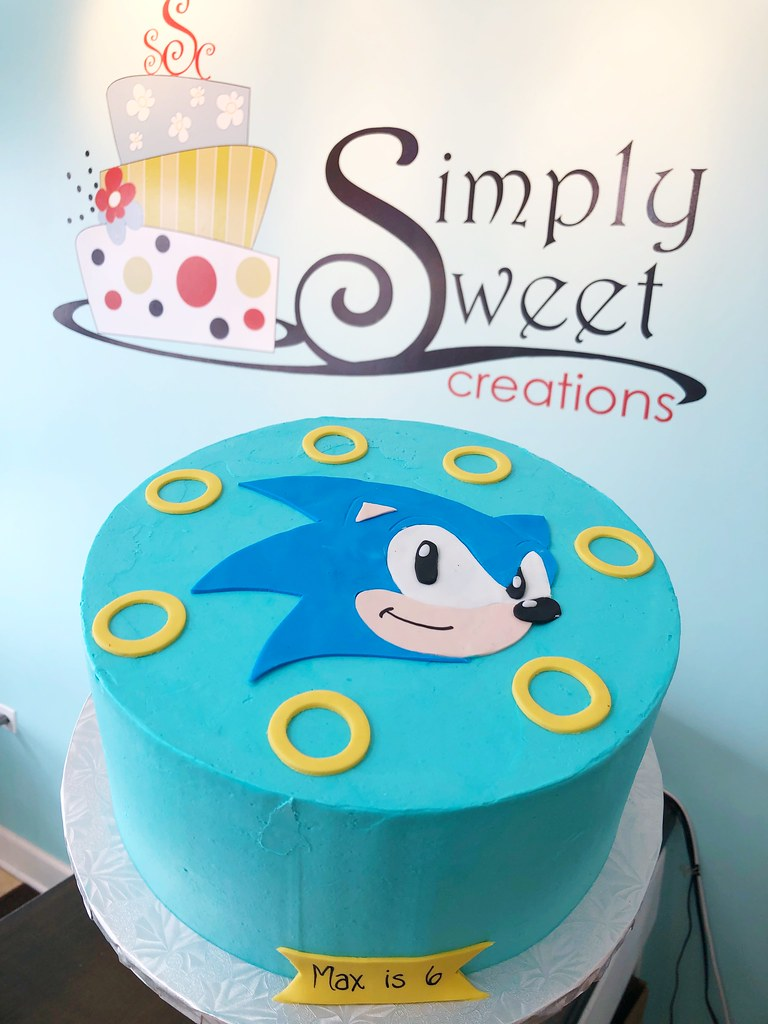 Sonic The Hedgehog Cake Simply Sweet Creations Flickr