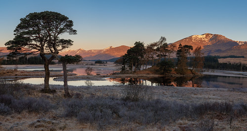 lochtulla blackmount sun sunrise gold golden goldenhour landscape light glow hill loch mountain winter bridgeoforchy glencoe scotland nikond810 1635mm 29mm nikkor1635mm nikkor1635mmf4