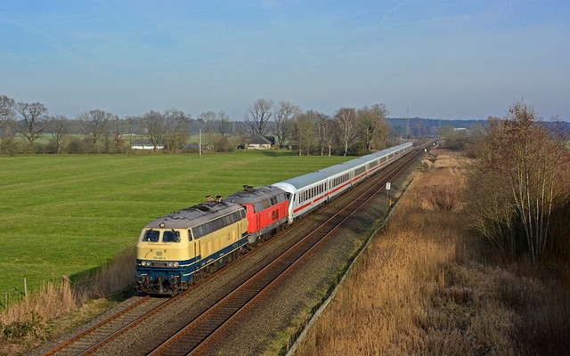 DB Railsystems 218 480-2 + 218 307-7 - Bekdorf