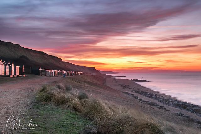 Sunrise over the Beach Huts (Explored)