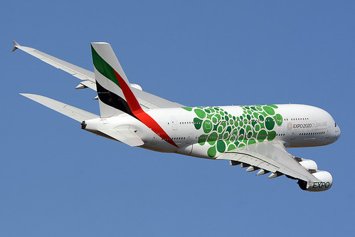 "EMIRATES A6-EEZ AIRBUS A380-800 ""EXPO 2020 (SUSTAINABILITY / GREEN) BCN/LEBL 
