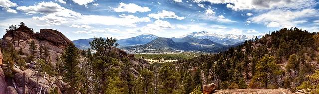 Looking out over Estes Park, Colorado