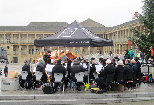 Band at Piece Hall, Halifax