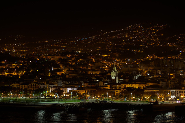 Funchal at night - Madeira, Portugal