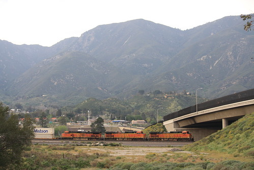 BNSF under Glen Helen Parkway, Cajon Pass | by tcamp7837