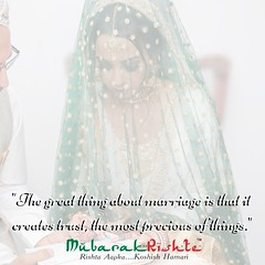 The great thing about marriage is that it creates trust, the most precious of things