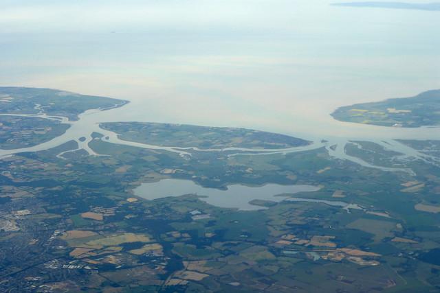 Mersea Island and the Colne estuary