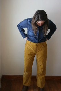 Jutland Pants for Me in Yellow Corduroy | by patternandbranch