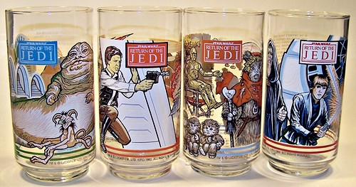 Return of the Jedi- drinking glasses