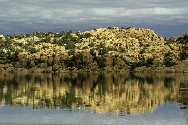 Reflections of Granite on Watson Lake, Arizona