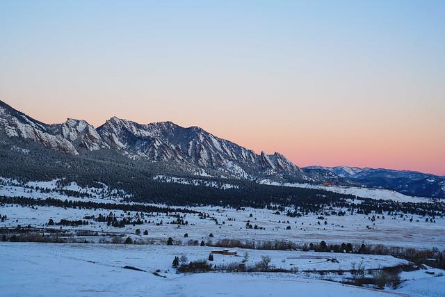 Flatirons - Boulder Colorado Snow