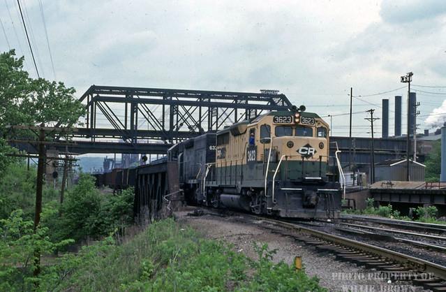Conrail GP35 3623 at Mingo Jct. Ohio