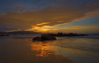Plimmerton, golden sunset | by stewartbaird