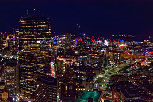 architecture brooksbos boston brooks city evening geotagged light lights cityscape nikon aerial massachusetts newengland night sky skyline tower view prudential skywalk