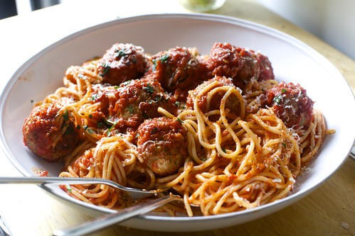 perfect spaghetti and meatballs | by smitten kitchen
