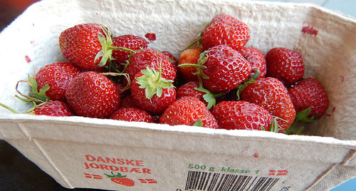 June is the month for really fresh strawberries in Aalborg, Denmark