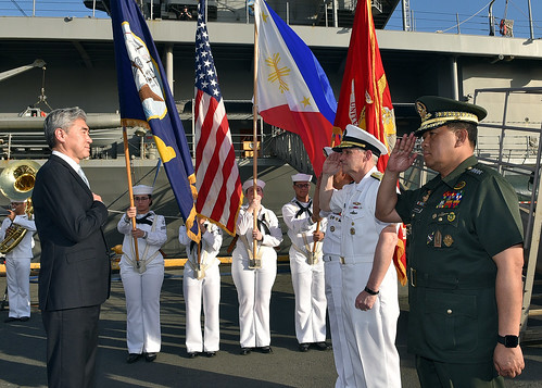 U.S. Ambassador to the Philippines arrives for a reception held aboard U.S. 7th Fleet Flagship USS Blue Ridge | by U.S. Indo-Pacific Command