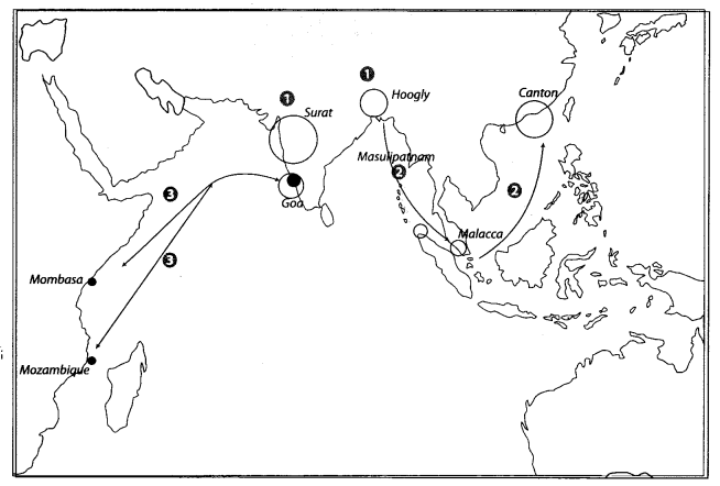 Class 10 History Map Work Chapter 4 The Making of Global World A3