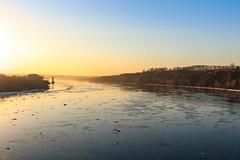 Ice drift in Tom river