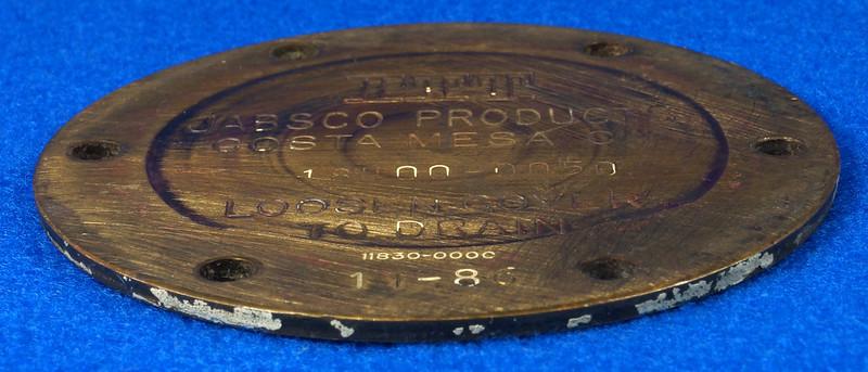 RD26708 Brass 3 inch ITT Jabsco 18400-0050 Pump End Cover Plate DSC00078