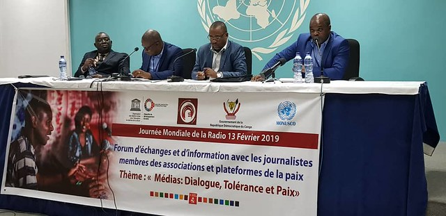 Kinshasa, RDC - On the occasion of the celebration of the World Radio Day on February 13, 2019, MONUSCO and UNESCO organized at UTEX II, an exchange Forum.