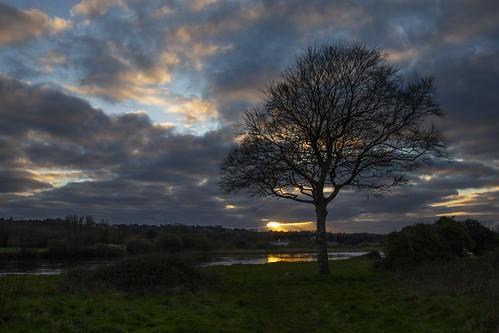 menlocastle rivercorrib sunset galway ireland wildatlanticway clouds sky landscape