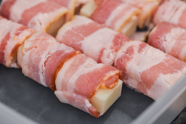 Bacon-wrapped Mochi