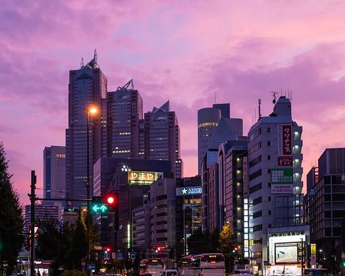 sunset travel city japan magichour sky tokyo