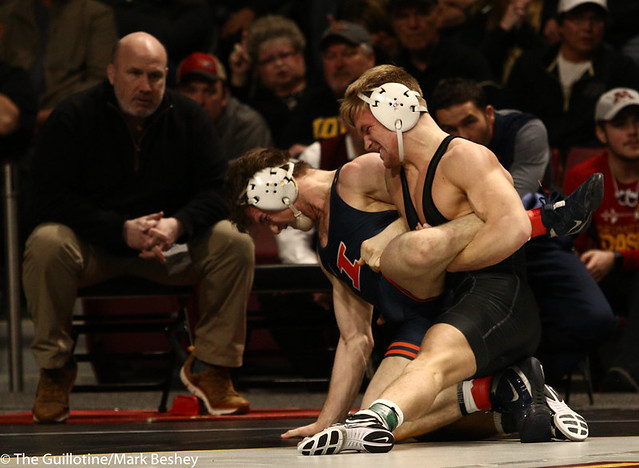 9th Place Griffin Parriott (Purdue) 2-0 won by decision over Eric Barrone (Illinois) 1-1 (Dec 5-2) Semis  - 190310cmk0093