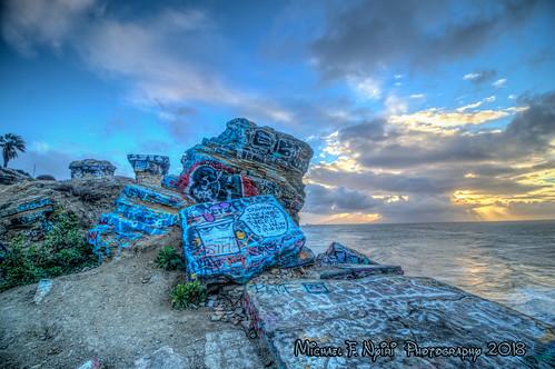 sunkencity sanpedro california southerncalifornia graffiti sunrise clouds