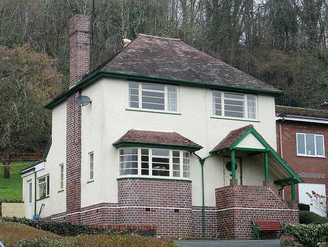 Closer View, Art Deco Style House, Pant, Shropshire