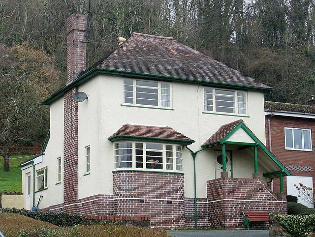 Closer View, Art Deco Style House, Pant, Shropshire