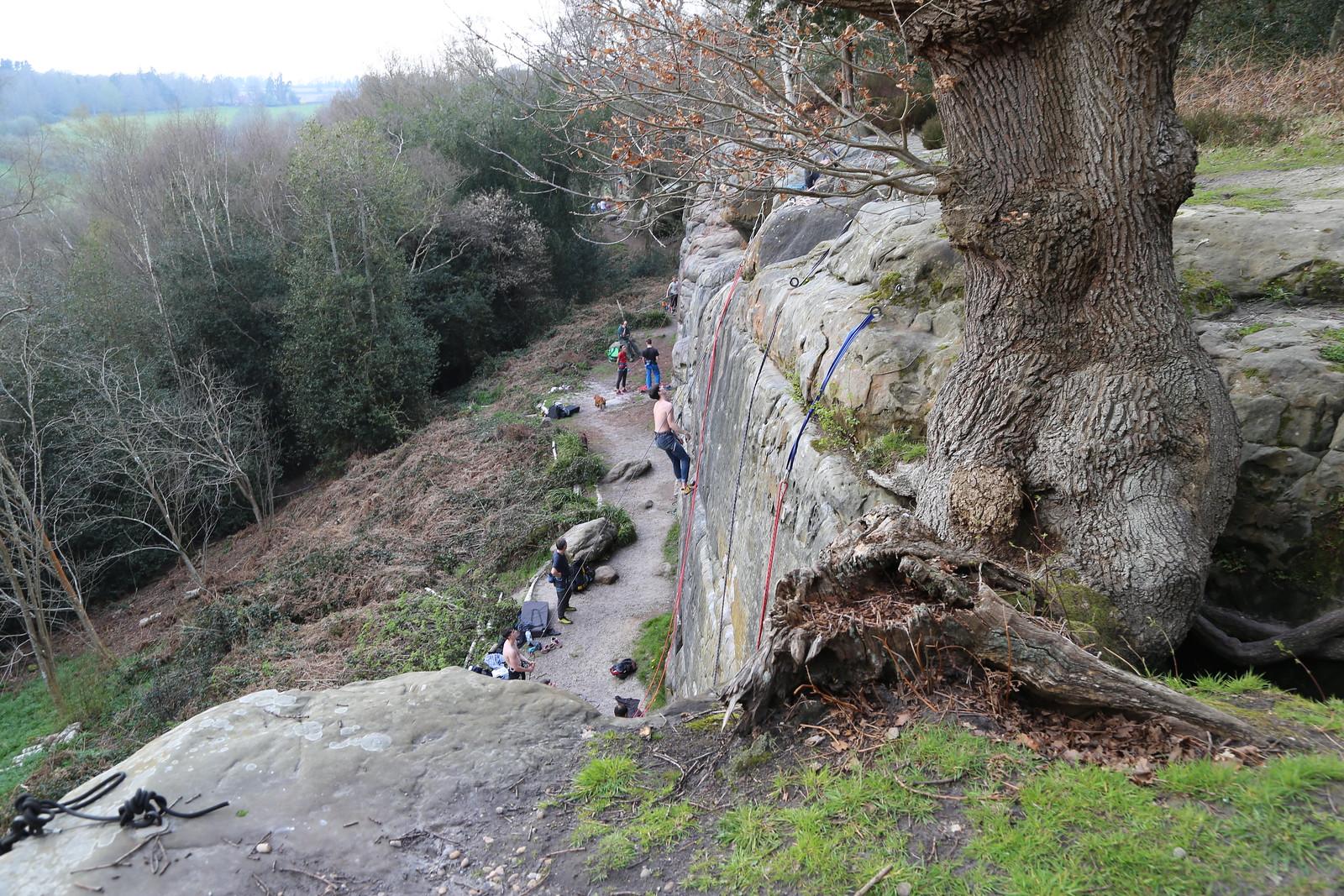 Harrison's Rocks - climbers