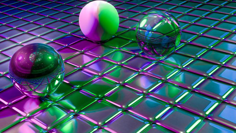 Обои шары, кубы, формы, блеск, отражение картинки на рабочий стол, фото скачать бесплатно