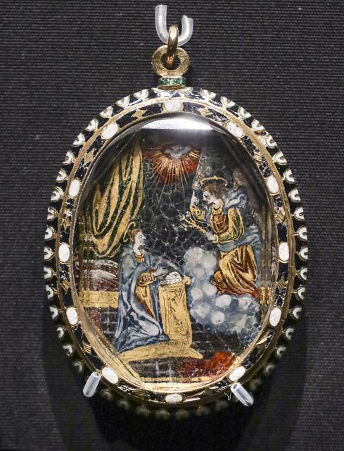 Pendant, Spain, 1580-1600, mount 1620-50