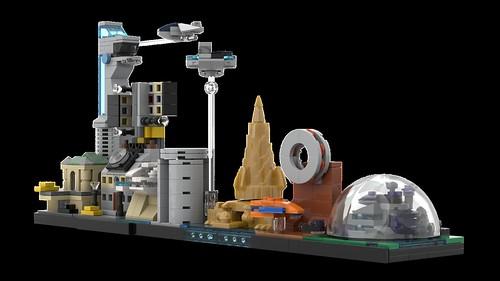 LEGO Avengers Skyline Architecture MOC 07 | by MOMAtteo79