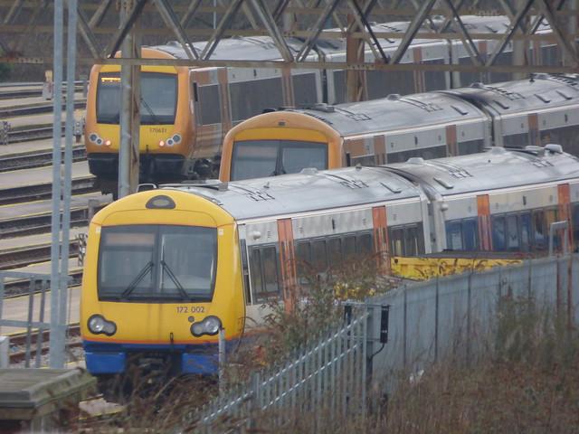London Overground 172 002 at the Tyseley DMU Depot