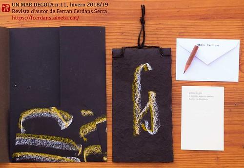 Un mar degota n. 11, hivern de 2019. Revista d'autor de Ferran Cerdans Serra.