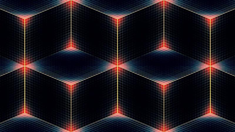 Обои линии, полумрак, цвет, квадрат, ромб, углы, куб картинки на рабочий стол, фото скачать бесплатно
